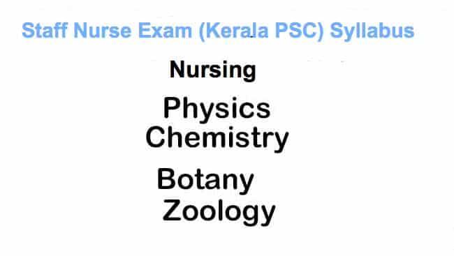 Staff Nurse Exam Syllabus