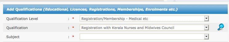 PSC Staff Nurse Exam educational qualifications